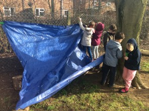 Today we have been building dens as part of our DT learning about structures.