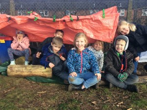 The children were very proud of their dens. They had a really great afternoon having fun and learning so many skills.