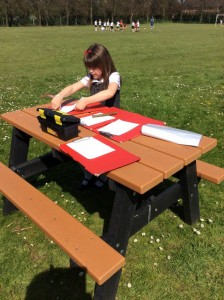 The children have also been continuing their outdoor science learning by making observations of animals and plants around them within this season.