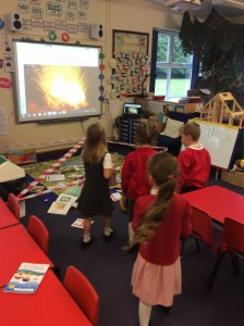 Today the children walked into the classroom to find that there had been a book explosion! All of the story characters had fallen out of their stories.